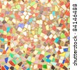Detiled textured image of a colorful mosaic - stock photo