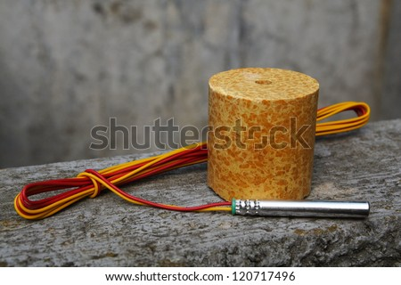Detonator and explosive - stock photo