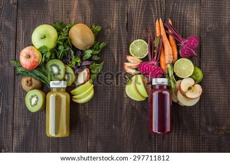 Detox juice - stock photo