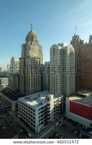 Detroit City - stock photo
