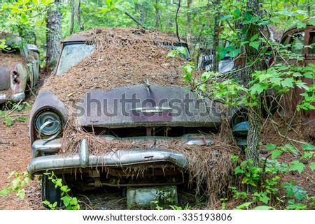 DETROIT, MICHIGAN - May 11, 2015: The Plymouth automobile was introduced at Madison Square Garden on July 7, 1928. - stock photo