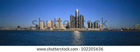 Detroit, Michigan skyline - stock photo