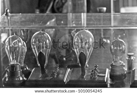 DETROIT U2013 SEPTEMBER 1,1979: Thomas Edison Light Bulb Laboratory. Vintage  Picture Taken