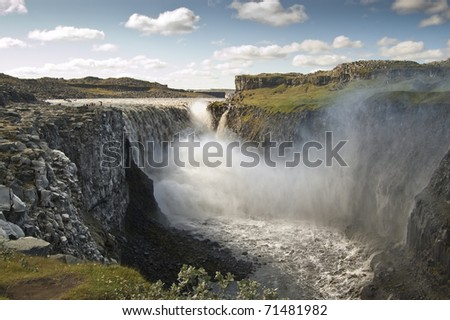 Dettifoss Waterfall Iceland Largest Waterfall Europe Stock Photo ... | title | waterfall terms