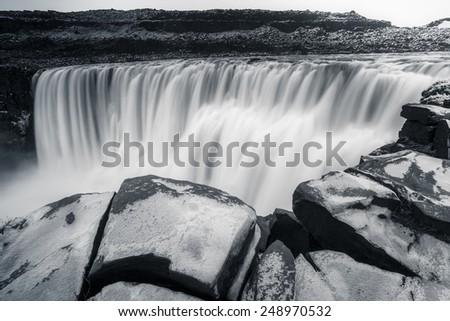 Dettifoss waterfalls, Iceland - stock photo