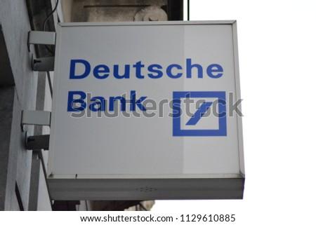 Deutsche Bank Sign Outside Branch Leuven Stock Photo Royalty Free