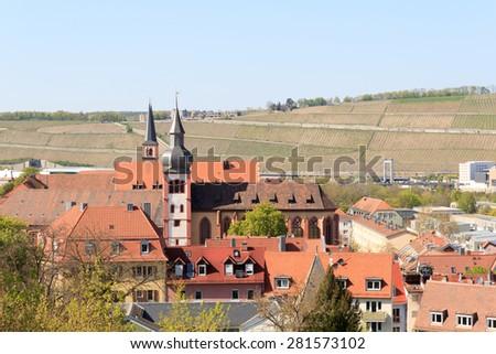 Deutschhauskirche in Wurzburg, Bavaria, Germany - stock photo