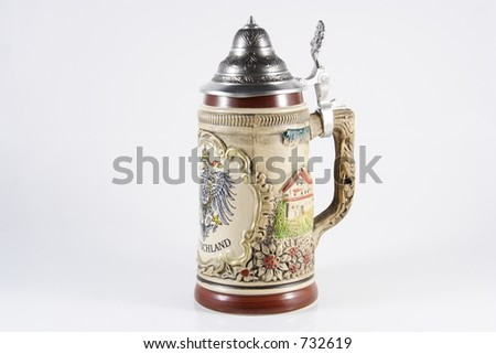 Deutschland Beer Stein - stock photo