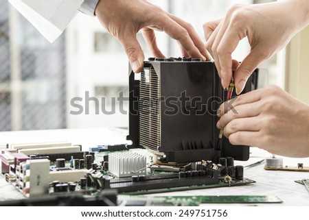 Developers who are repairing the PC parts