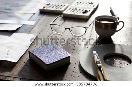 developing ideas for a new project. - stock photo