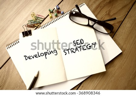 Developing SEO Strategy - stock photo
