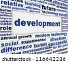 Development conceptual message background. Improvement poster design - stock photo