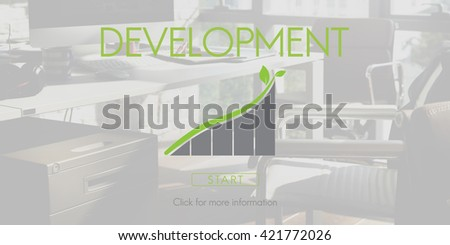 Development Green Business Environment Ecology Concept - stock photo
