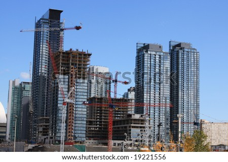 development on old railway lands, Toronto,, Ontario, Canada
