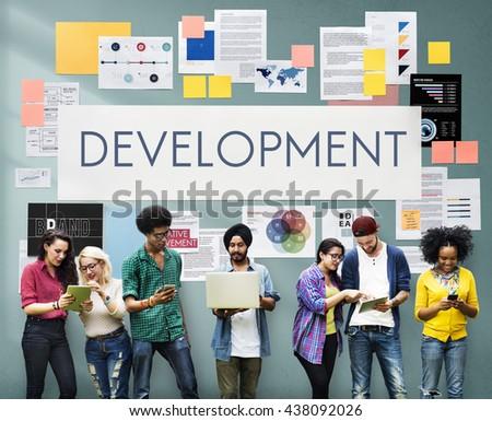 Development Process Solution Strategy Concept - stock photo