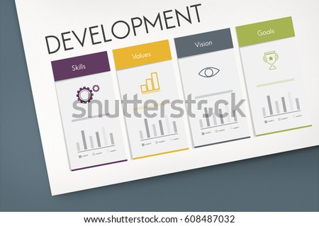 Development Success Performance Graphic Word Icon