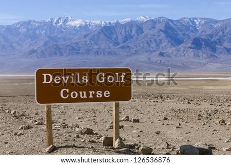 Devil�¢??s Golf Course and Telescope Peak - stock photo