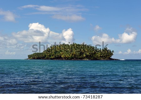 Devil's island in French Guiana, the penal colony where Dreyfus was exiled - stock photo