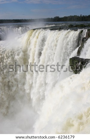 Devil's throat, Iguazu falls, Argentina - stock photo