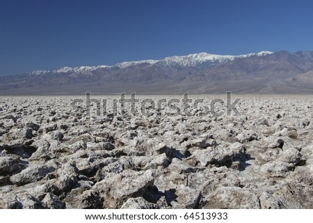 Devils Golf Course at Death Valley National Park in California - stock photo