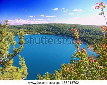 Devils Lake State Park Wisconsin - stock photo
