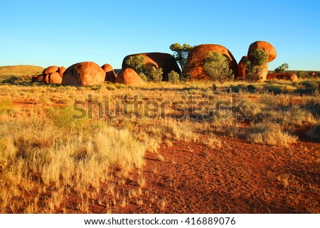Devils Marbles, Australian outback