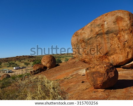 Devils Marbles Conservation Reserve, Northern Territory, Australia - stock photo