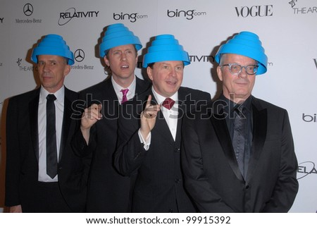 "Devo at the 2011 Art Of Elysium ""Heaven"" Gala, Annenberg Bldg., California Science Center, Los Angeles, CA. 01-15-11 - stock photo"
