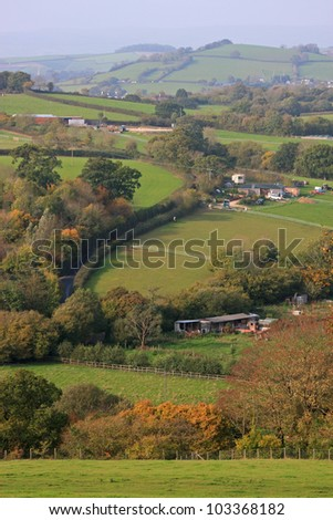 Devon countryside - stock photo