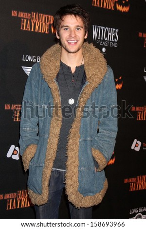 Devon Werkheiser at the 8th Annual LA Haunted Hayride Premiere Night, Griffith Park, Los Angeles, CA 10-10-13