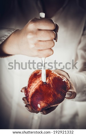 devoted heart abstract creative background - stock photo