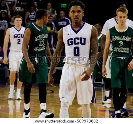 DeWayne Russell forward for the Grand Canyon University Lopes at Grand Canon University Arena in Phoenix,AZ USA 11,3,2016.