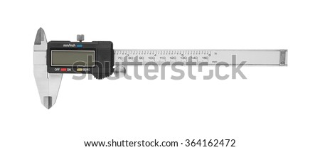 Dgital Electronic Vernier Caliper, isolated on white background - stock photo