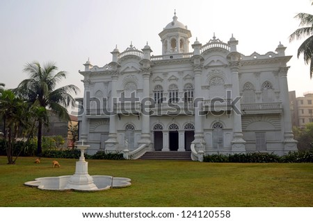 DHAKA,BANGLADESH - DECEMBER 13: Rose Garden Palace on December 13, 2012 in Dhaka,Bangladesh. Rose Garden Palace was built as a pleasure lodge for the well-heeled residents in the nineteenth century.