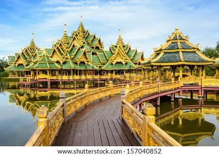 Dhamma Dream Palace, The ancient city in Bangkok, Thailand - stock photo