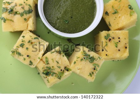 dhokla,indian food - stock photo
