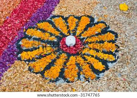 "Dia de Muertos ""Day of the Dead"" flower in Mexico - stock photo"