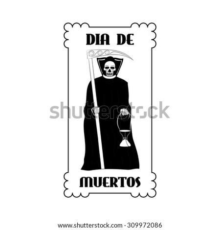 Dia de Muertos - Mexican Day of the death spanish text - stock photo
