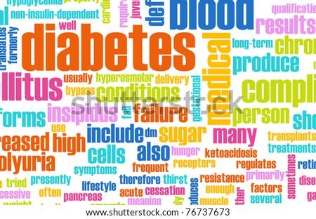 Diabetes as a Medical Illness Condition Concept - stock photo