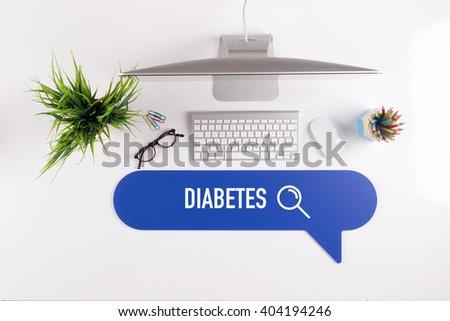 DIABETES Search Find Web Online Technology Internet Website Concept - stock photo