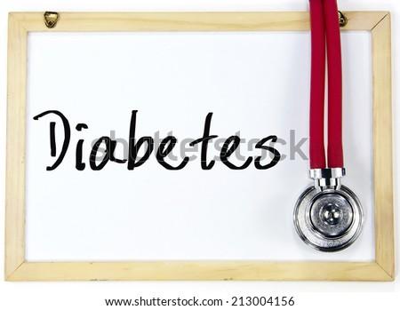 diabetes word write on blackboard - stock photo