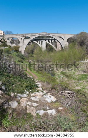 Diable Bridge near Ceret at the south of France
