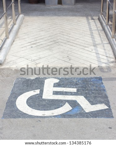 diabled people sign - stock photo