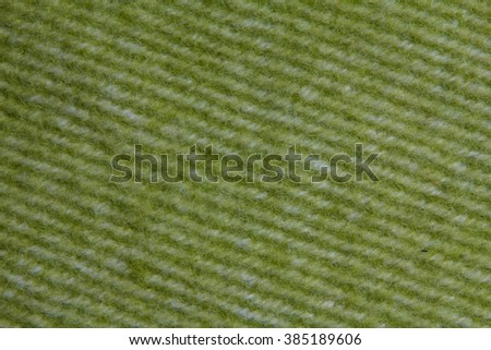 diagonal green woollen striped blanket texture - stock photo
