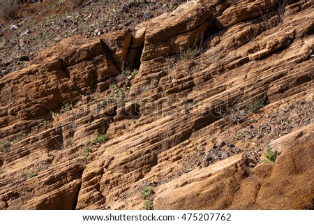 Diagonal mineral layers background from volcanic rocks of Cape Verde