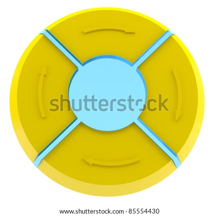 Diagram - 3d model - stock photo