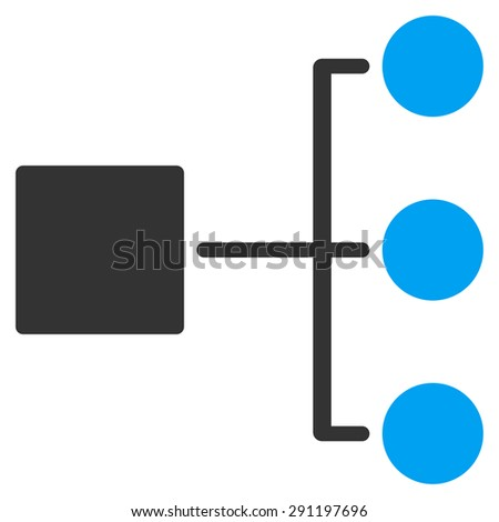 Diagram icon from Commerce Set. Glyph style: bicolor flat symbol, blue and gray colors, rounded angles, white background. - stock photo