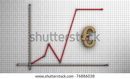Diagram of business euro - stock photo