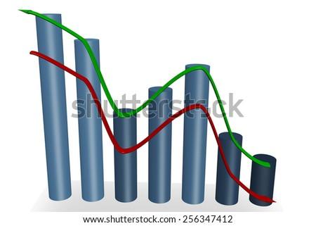Diagram with arrows - stock photo