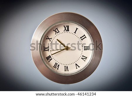 Dial clock. Series - stock photo